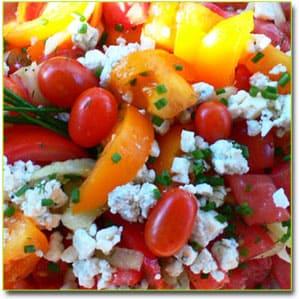 Рецепты салатов помидоры с сыром фото